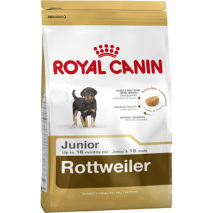 Royal Canin Dog Food: Rottweiler Junior (2 to 18 months). Available online from Yes.Pet