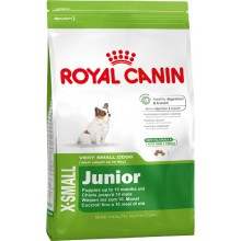 Royal Canin Dog Food: X-Small Junior (2 to 10 months). Available online from Yes.Pet