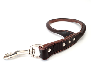 Point Leather Leather Leash: Short training leash. Available online from Yes.Pet