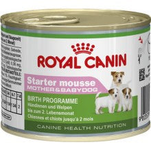 Royal Canin Dog Food: Royal Canin Starter Mousse (Weaning to 2 months). Available online from Yes.Pet