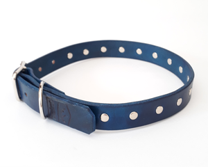 Point Leather Dog Collar: Classic studded collar. Available online from Yes.Pet