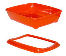 McMac Litter Box: Arist-o-tray With Rim. Available online from Yes.Pet