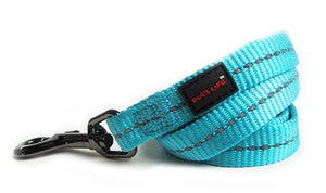 Dog's Life Dog Leash: Supersoft Webbing Leash - Turquoise. Available online from Yes.Pet