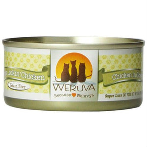 Weruva Cat Food: Paw Lickin' Chicken. Available online from Yes.Pet