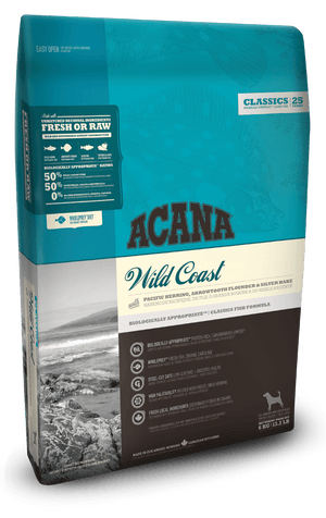 Acana Dog Food: Wild Coast Dog  - for all breeds and life stages. Available online from Yes.Pet