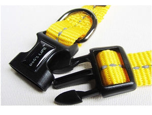 Dog's Life Dog Collar: Reflective Supersoft Webbing Collar -  Yellow. Available online from Yes.Pet