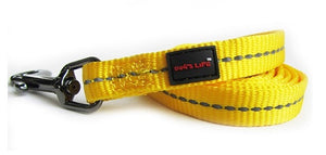 Dog's Life Dog Leash: Supersoft Webbing Leash - Yellow. Available online from Yes.Pet
