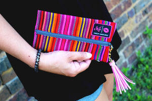 """Serape"" Makeup Junkie Bag"