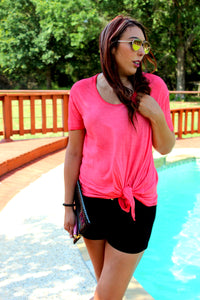 Coral Knot Top Tee
