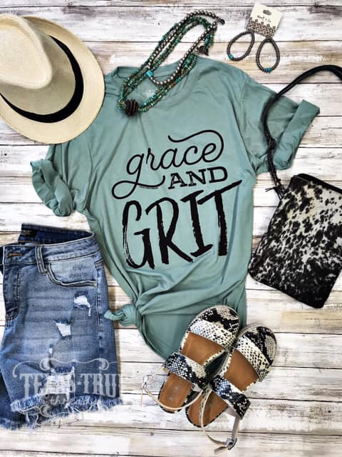"""Grace and Grit"" Graphic Tee"