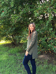 Criss Cross Olive Top