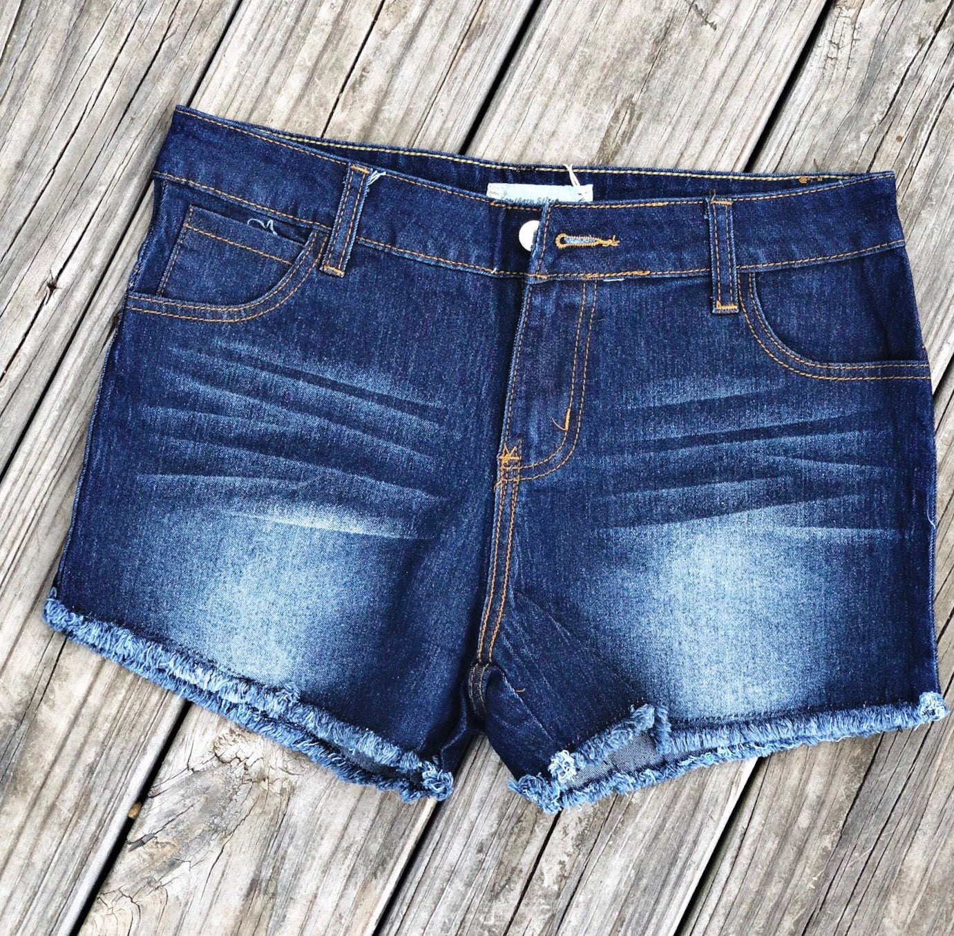Frayed Blue Jean Shorts