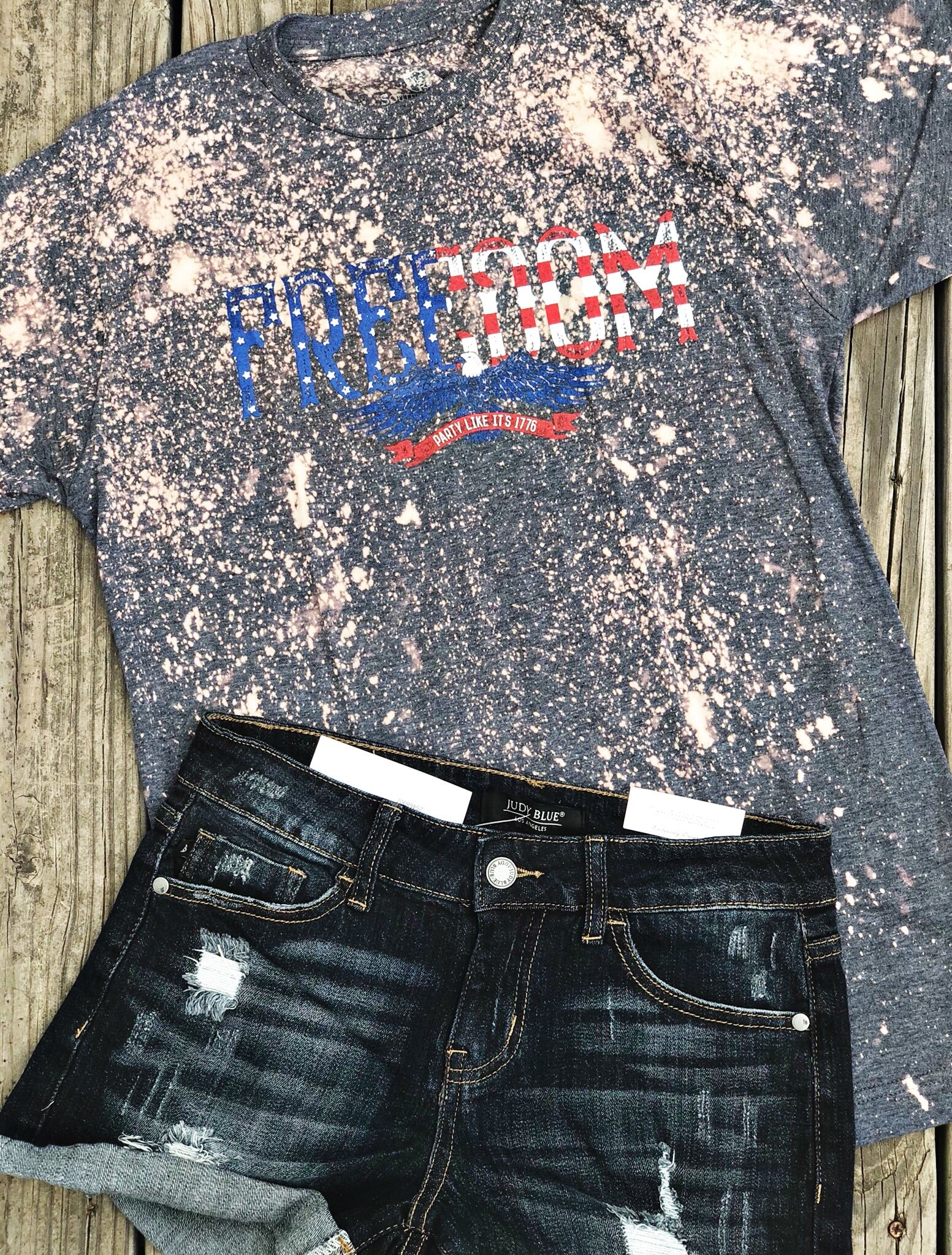 Freedom Bleached Graphic Tee