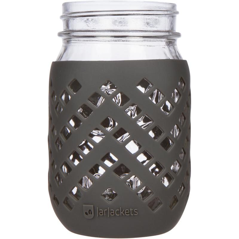 Manga para Mason Jar 470 ml - Boca Regular Gris