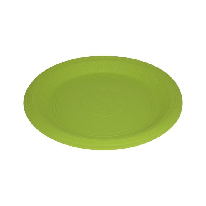 20 Platos Desechables Biodegradables Verdes