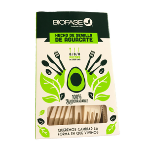 Paquete Mix 24 Cubiertos Biodegradables