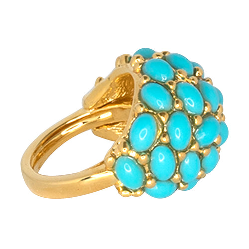 Turquoise Cabochon Dome Ring