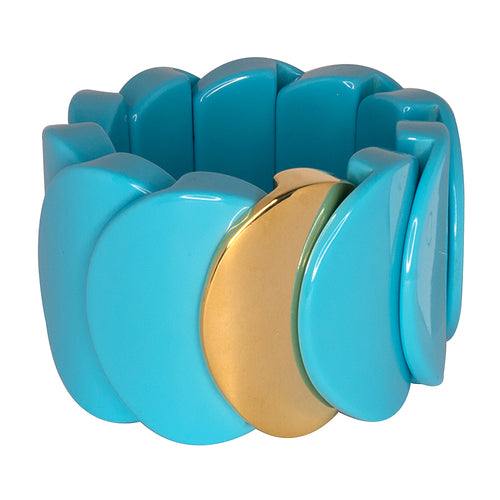 Turquoise Overlap Stretch Cuff