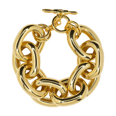Polished Gold Large Link Bracelet