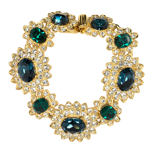Sapphire And Emerald Bracelet