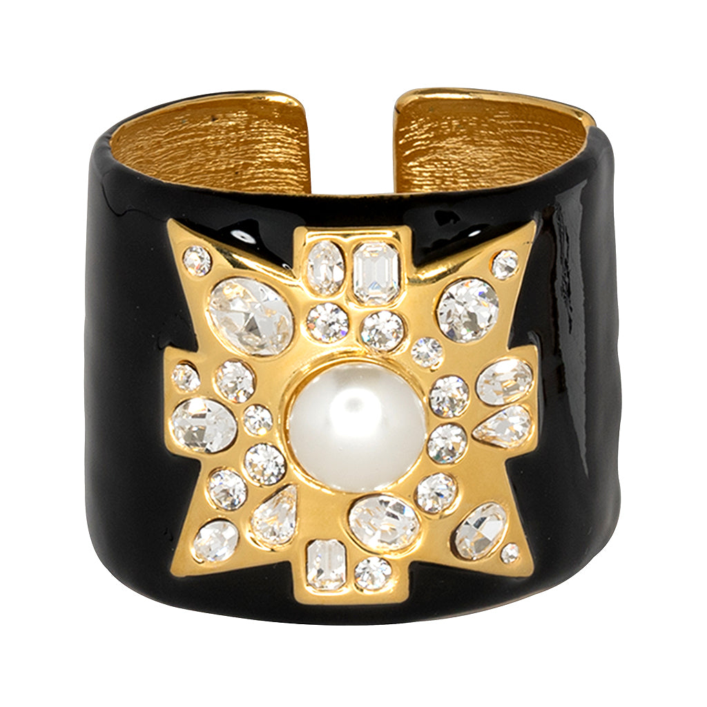 Madonna in the Black Maltese Cross Cuff