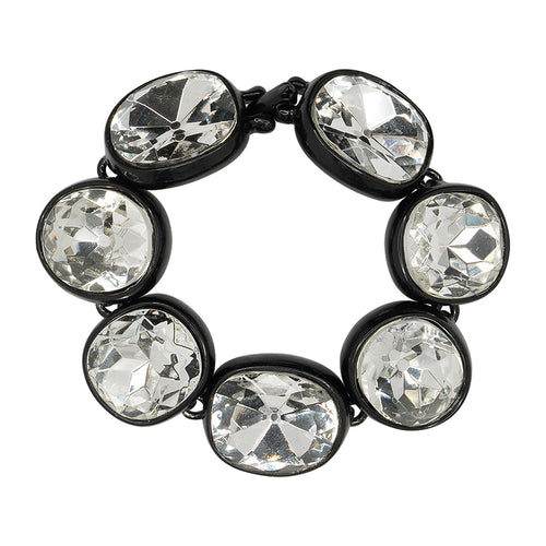 Black Plated Crystal Bracelet