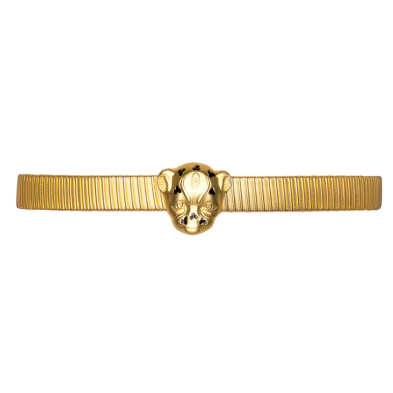 Leopard Head Buckle Belt