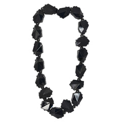 Jet Diamond Shape Stone Necklace