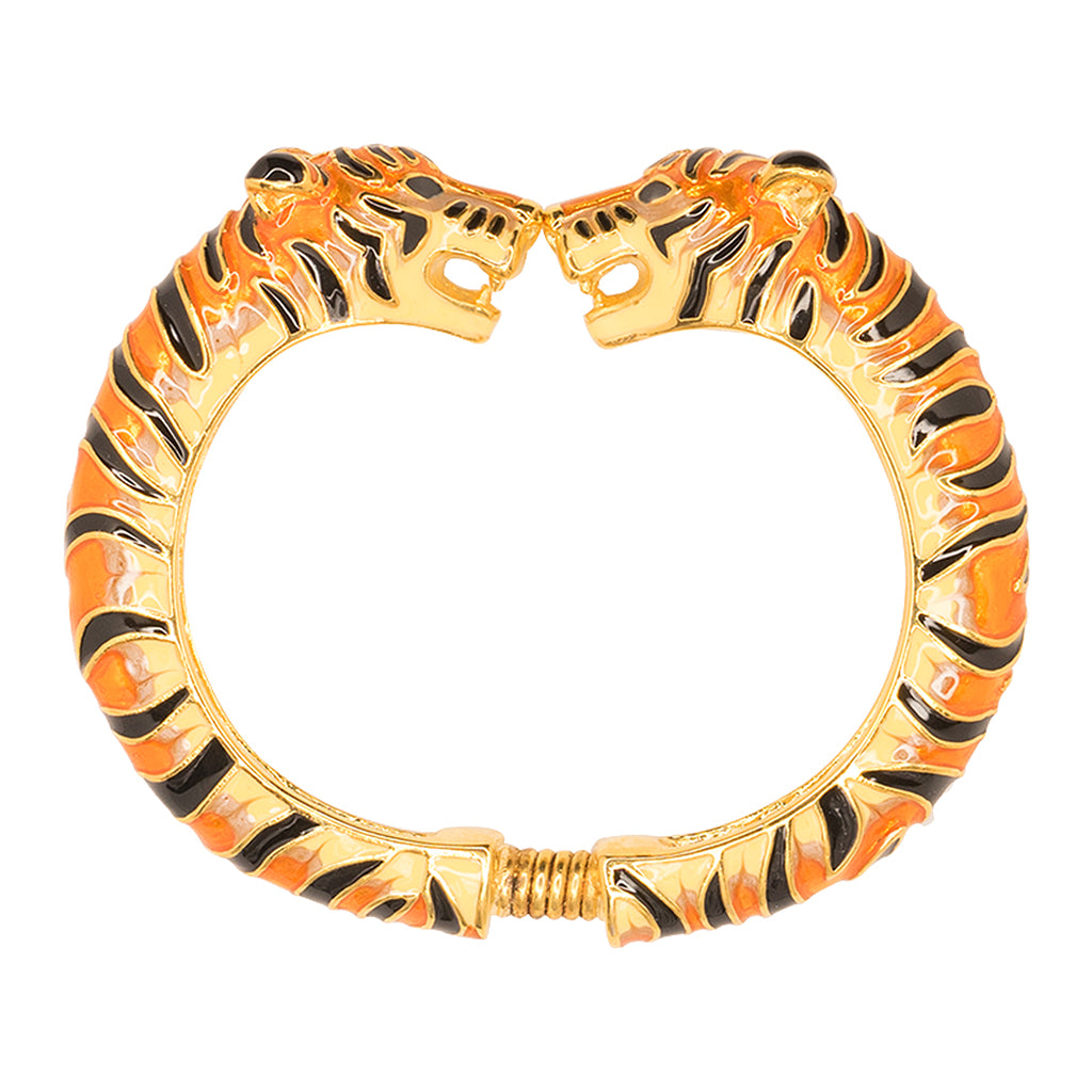 The Daily/ May 2017 - Tan And Black Enamel Tiger Bracelet