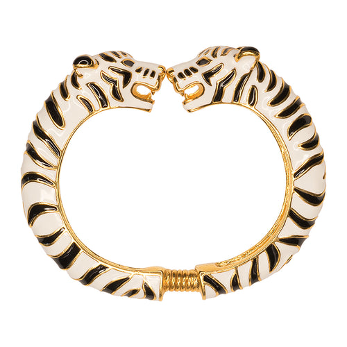 Black And White Enamel Tiger Bracelet