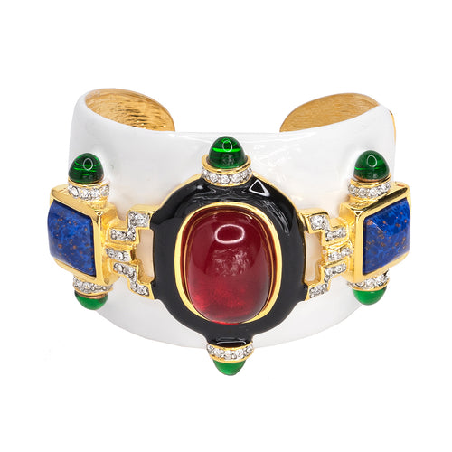 White And Ruby Cuff