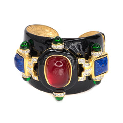 Black And Ruby Cuff