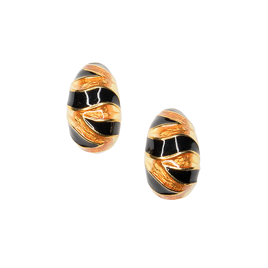 The Knot/ Feb 2018 - Tiger Stripe Clip Earring