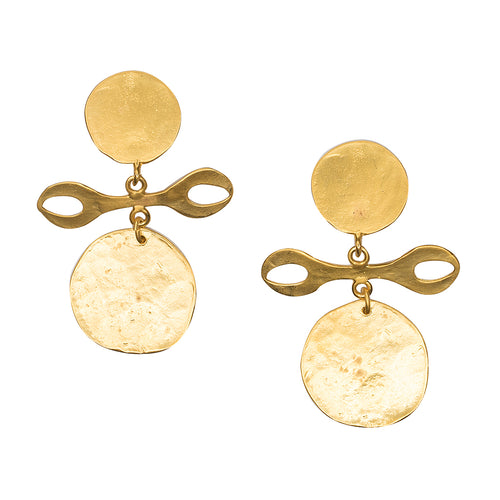 Satin Gold Tribal Clip Earring