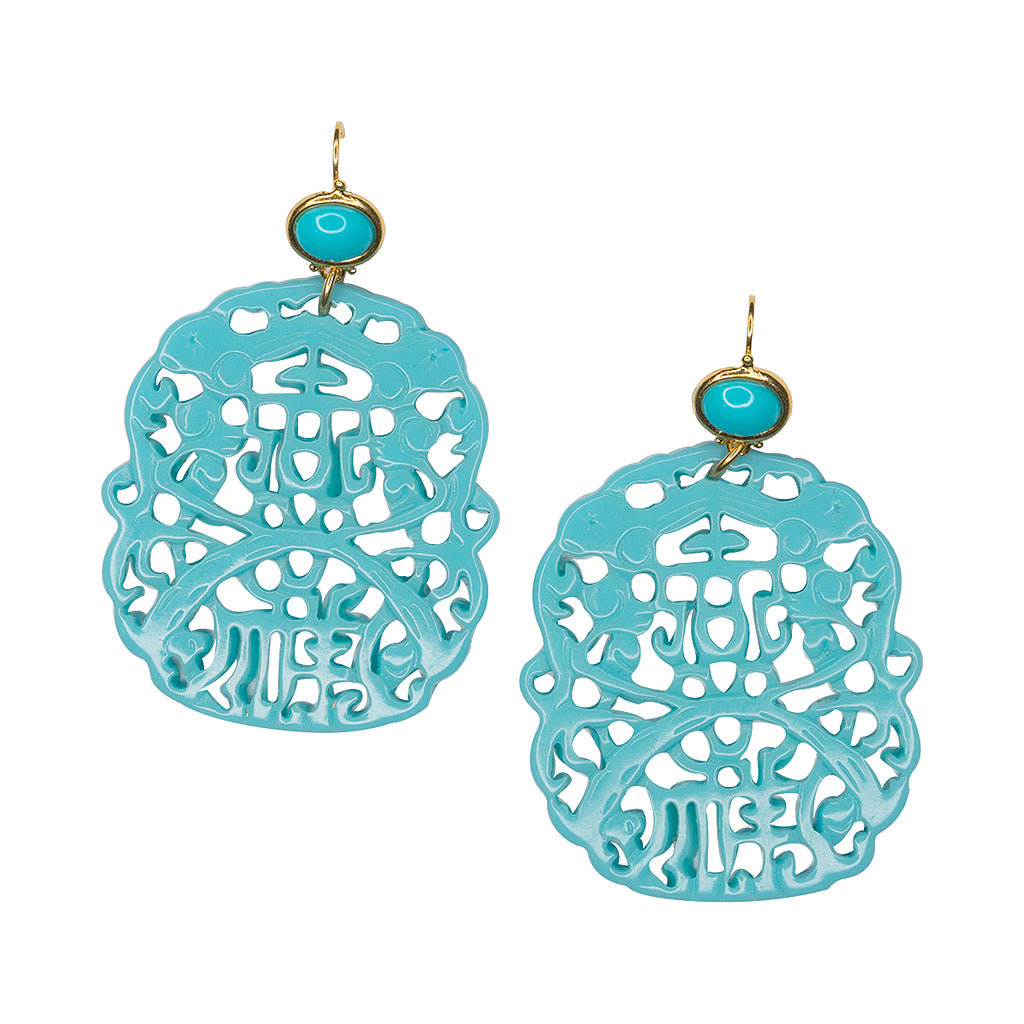 lightweight turquoise maghreb large main beaded earrings drop gold