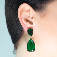 Nicky Hilton in the Emerald Teardrop Pierced or Clip Earrings