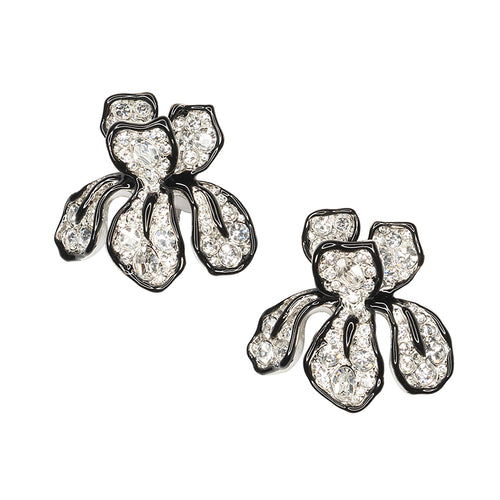 The Knot/ Summer 2018 - Crystal Flower Clip Earrings