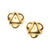 Satin Gold Abstract Button Clip Earrings