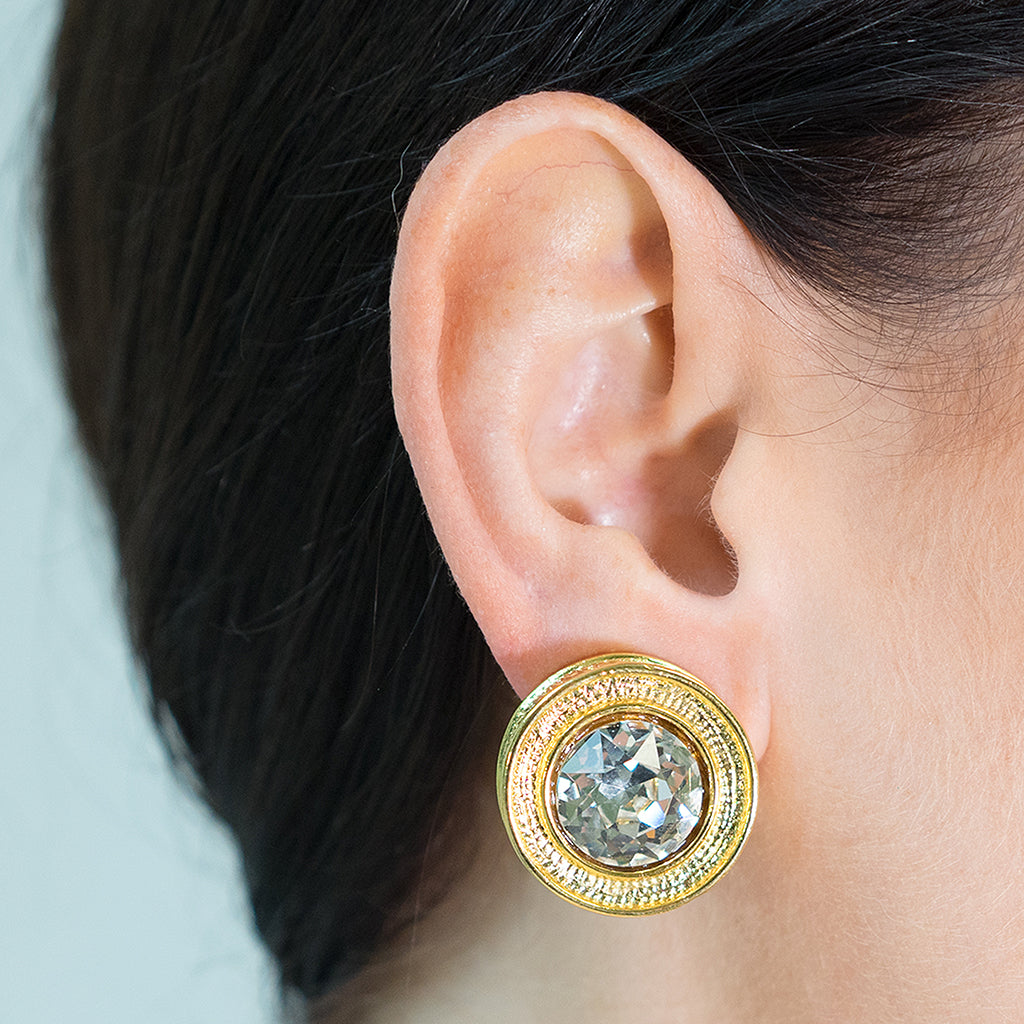 Round Crystal Earring