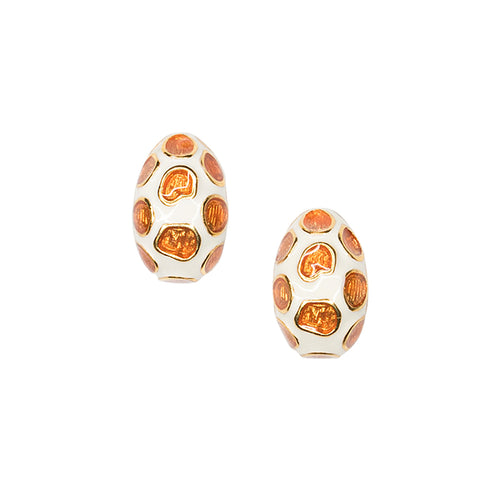 Giraffe Print Pierced or Clip Earrings