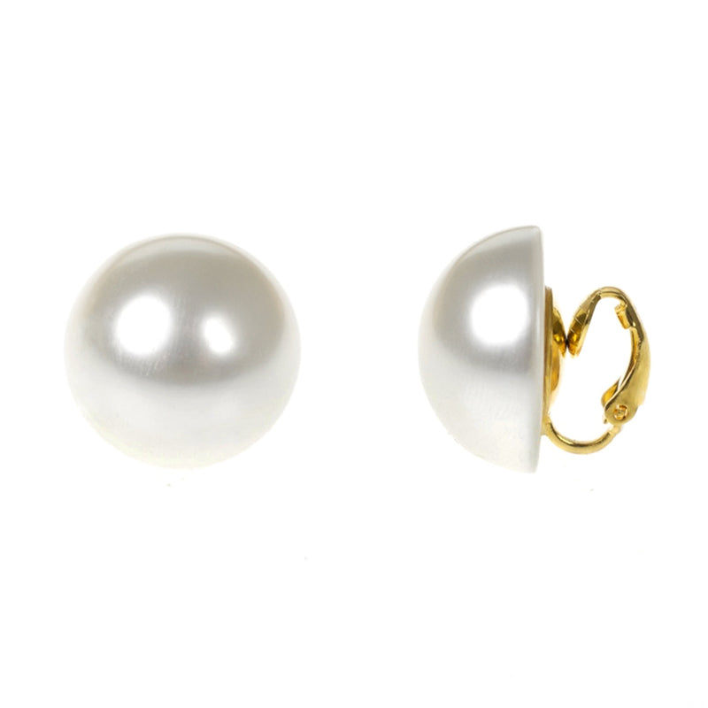 Frameless Pearl Clip Earrings