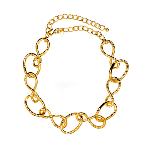 Satin Gold Link Necklace