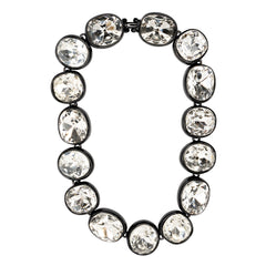 Black Crystal Headlight Necklace