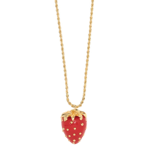 Red Strawberry Necklace