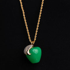Jade Apple Pendant