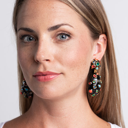 Gemstone Clip Earrings