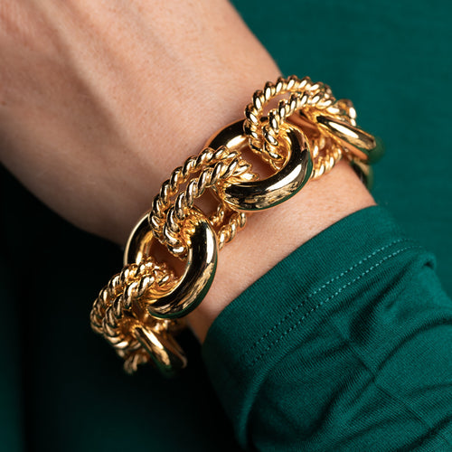 Polished Gold Link Bracelet
