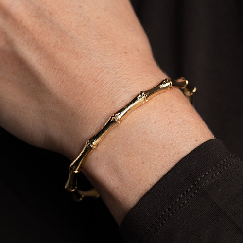 Gold Bamboo Bangle