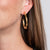 Medium Gold Bamboo Hoop Pierced Earrings