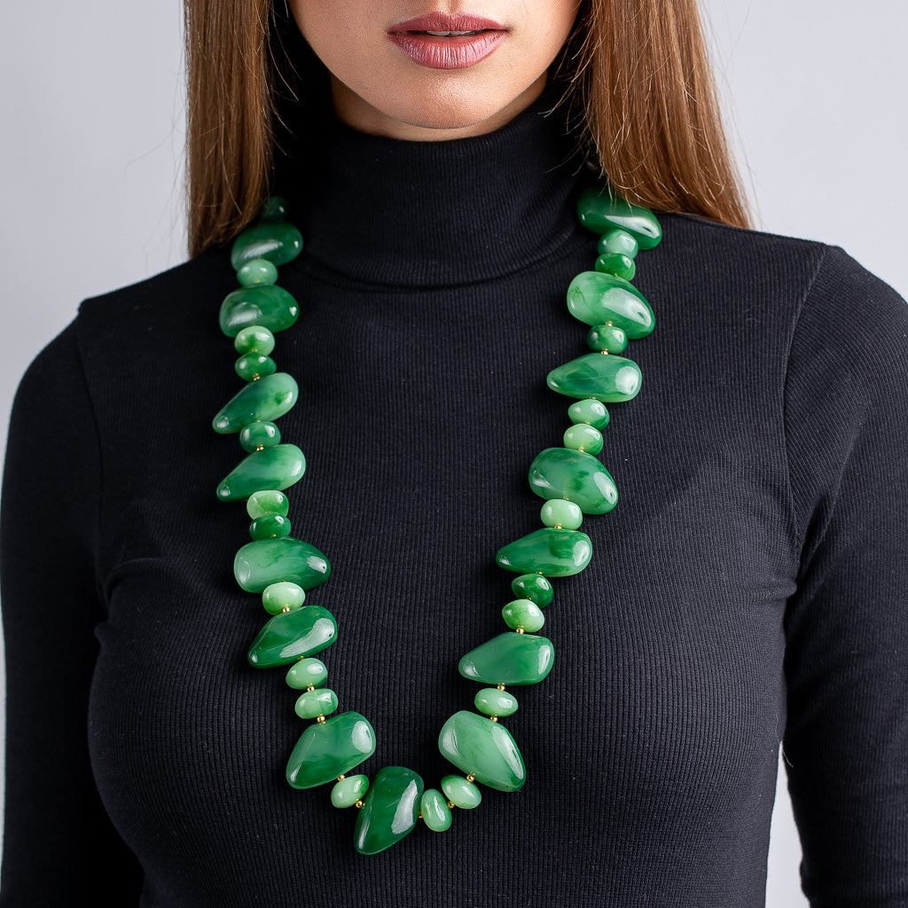 Jade Pebble Necklace